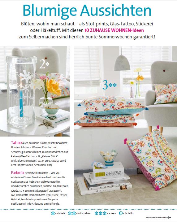 Zeitschrift Zuhause Wohnen beitrag magazin zuhause wohnen 2013 lovala