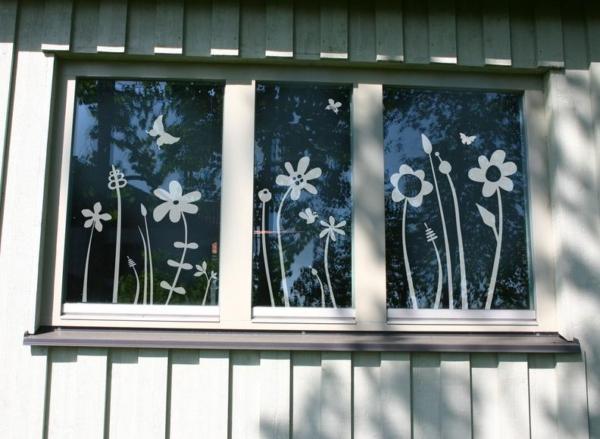 Fensterbild Blümchenwiese von Lovala