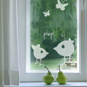 Fenstertattoo Piep von Lovala