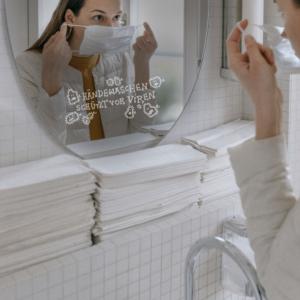 Aufkleber Hygienemassnahme